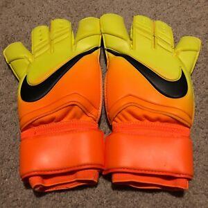 Nike GK Vapor Grip 3 RS Bright Citrus Volt Soccer Goalie Gloves Sz ... d2a09306b7
