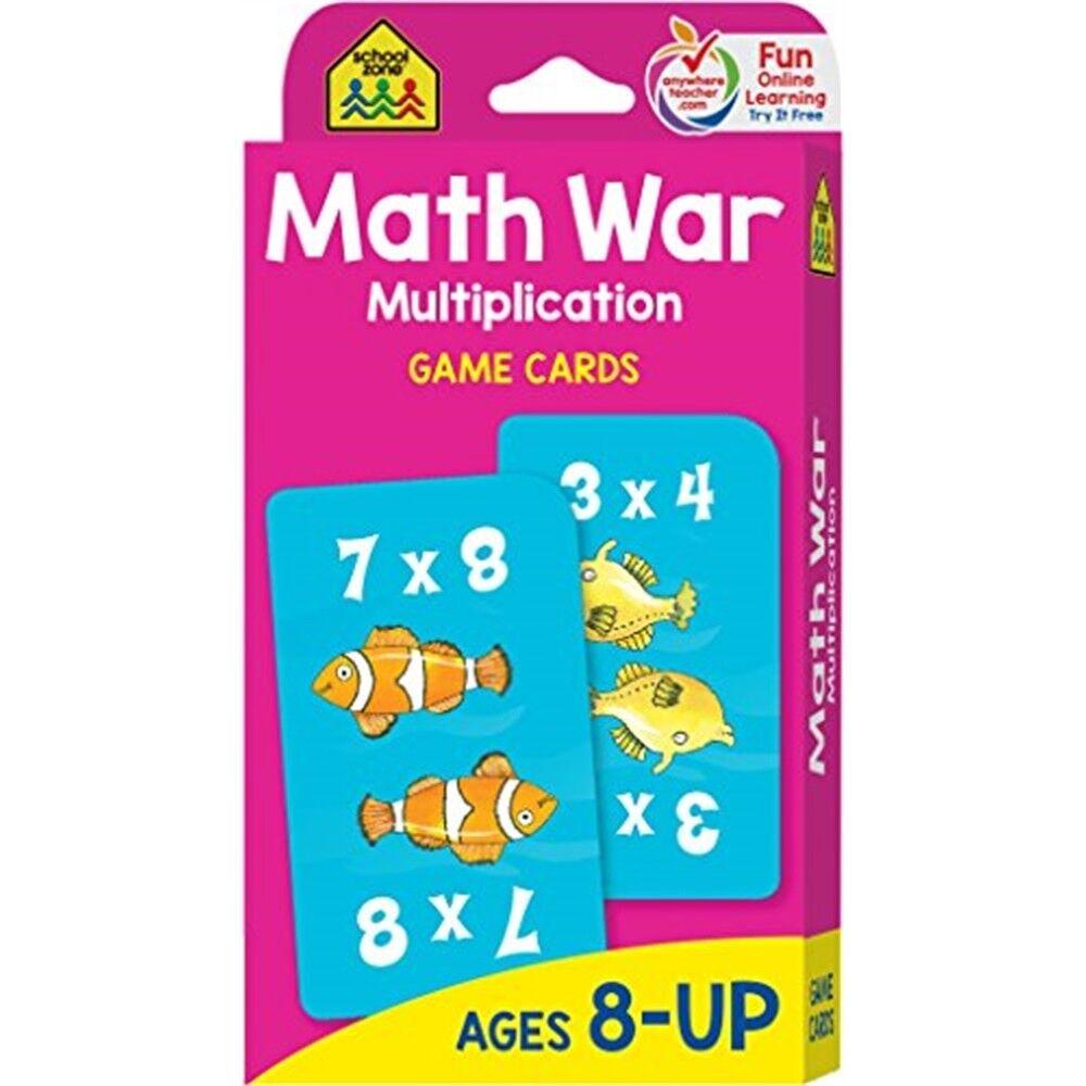 Multiplication De Guerre De Cartes De Jeu Et Maths - 8 Ans Et Plus