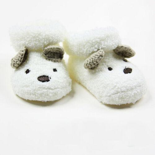 Cute Newborn Baby Boy Girls Socks Infant Cute Bear Crib Warm Shoes Socks Pip US