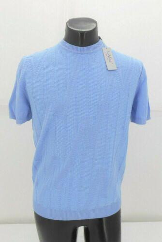 Lavane Men/'s Light Blue Light Weight Short Sleeve Sweater  $49.99