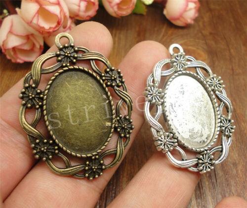 2//8//40pcs Wholesale Lot Tibetan Silver Round Jewelry Charm Pendant 45x34mm H