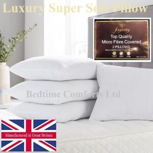 2-x-FOGARTY-LUXURY-SUPER-SOFT-Hollow-Fiber-Microfiber-PILLOWS-19-x-29-PAIR