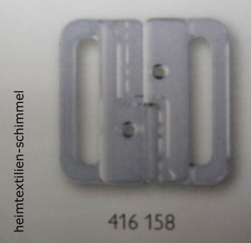 PRYM Bikiniverschluss Bikini Verschluss Kunststoff 20mm transparnt 416158