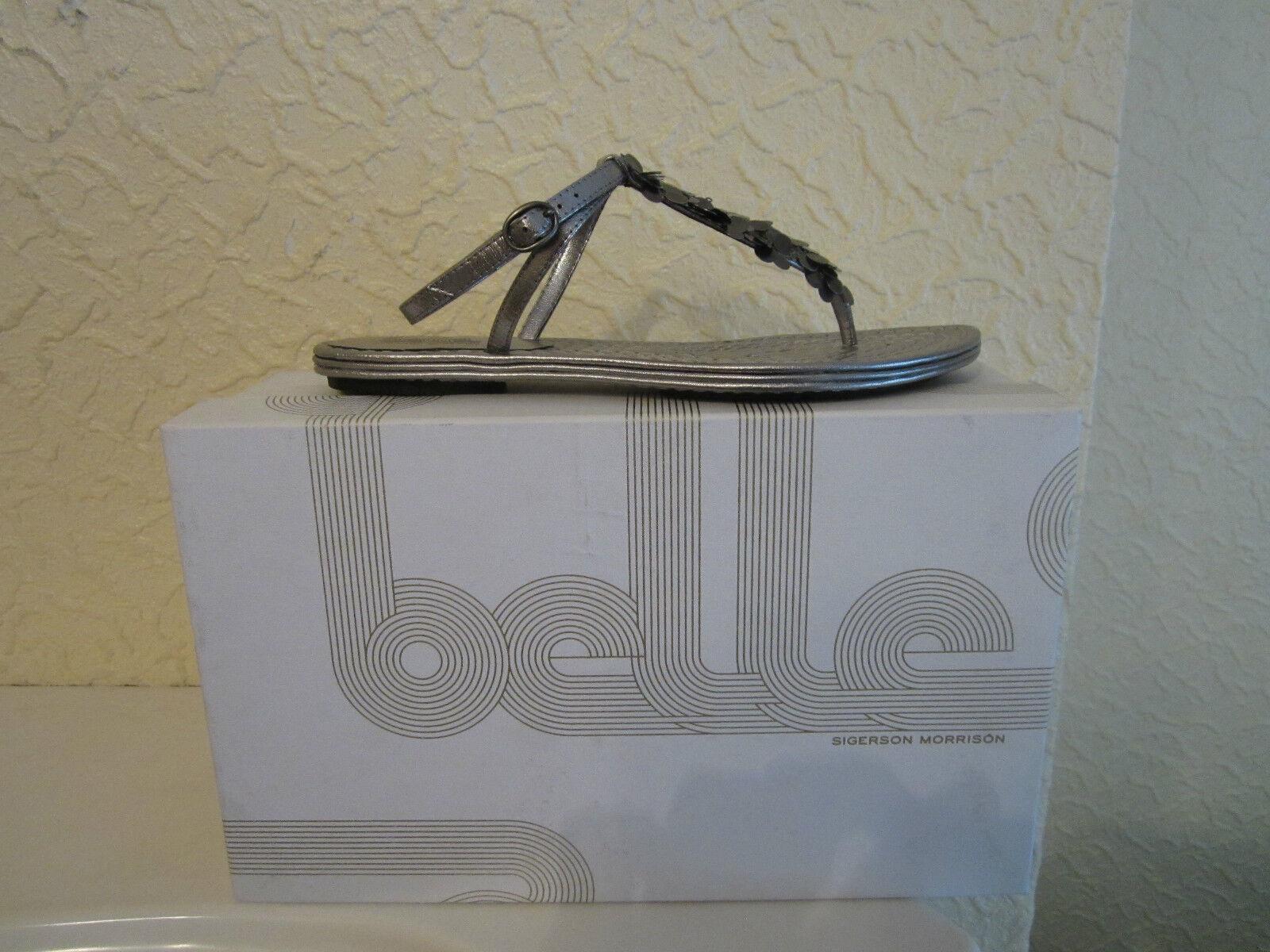 Belle by Sigerson Morrison PELTRO METALLIZZATO Tanga Sandali