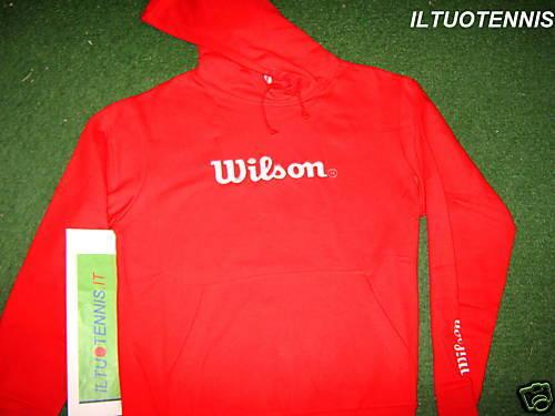FELPA WILSON  CON CAPPUCCIO COL. red TG. XL