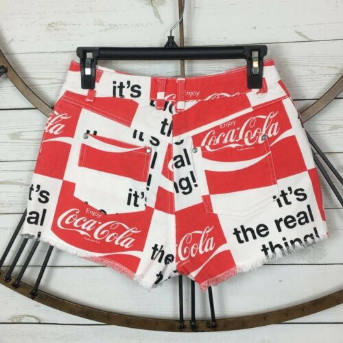 Coca Cola Spell Out Cut Off Denim Shorts Pick Your Size Small or Medium