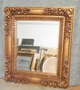 Large Ornate Wood Resin 32x36 Rectangle Beveled Framed Wall Mirror Ebay