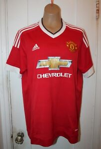 ADIDAS-Manchester-United-FC-MUFC-Football-Soccer-Home-Jersey-AC1414-Men-039-s-Large