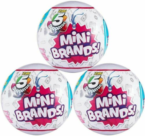 5 Surprise Mini Brands Collectible Toy Ball3 PackBy ZuruReady to ship