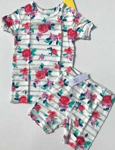 84601c691526 NEW BABY GAP Kids Girl s Two Piece Short Vintage Floral PJ Pajama ...