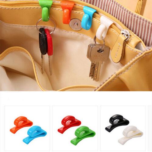 Kunststoff Kleiderbügel Schlüsselanhänger Kettenhalter Haken Handtasche Umhäng—H