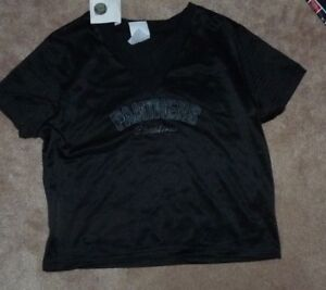 huge discount 56677 bd58e Details about NEW NFL Carolina Panthers Jersey Crop Top T Shirt Women  Ladies L Large NEW NWT