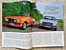 3941) Opel Rekord D / Opel Commodore B / 10 Seiten Bericht in OldtimerMarkt 2010