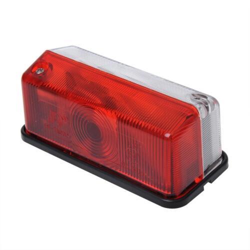 Umrissleuchte rot//weiß 92x42mm Inkl 12V Glühbirne E4-geprüft