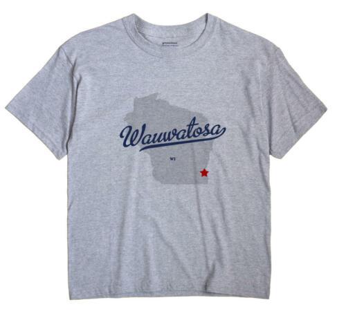 Wauwatosa Wisconsin WI T-Shirt Souvenir MAP