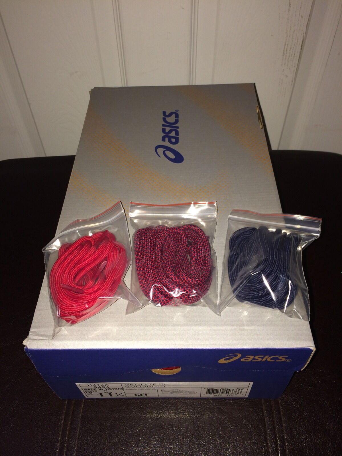 Asics Gel-Lyte III III III x Ronnie Fieg Kith KFE USA oro Medal Denim Sz 11.5 1e8db6