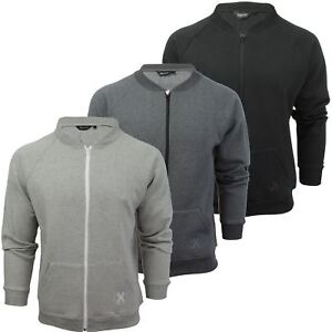 Mens-Zip-Through-Sweatshirt-Jumper-by-Xact-Long-Sleeved