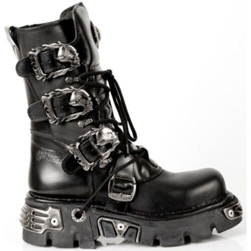 Unisex Stile 391 Punk Gothic Rock Nero Stivali S1 Boots New 7nEYW