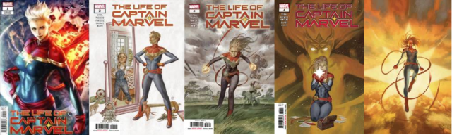 (2018) LIFE OF CAPTAIN MARVEL #1 ARTGERM VARIANT COVER 2 3 4 5 COMPLETE SET! 1-5