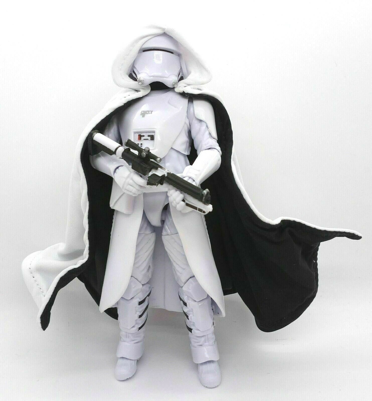 """1//12 White /& Black Hooded Wired cape for 6/"""" Snow Stooper SU-C-ST No Figure"""