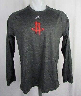 best website 082ec c078b Houston Rockets NBA Men's adidas Climalite Long Sleeve ...