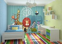 3d Animals Gate Blockout Photo Curtain Printing Curtains Drapes Fabric Window Au