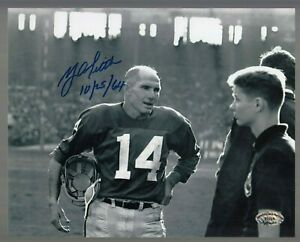 Y-A-Tittle-Signed-Auto-B-amp-W-Giants-8x10-Photo-W-10-25-64-SCH-Auth-27705-40