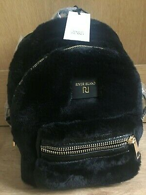 RIVER ISLAND Black small backpack new WITH TAG