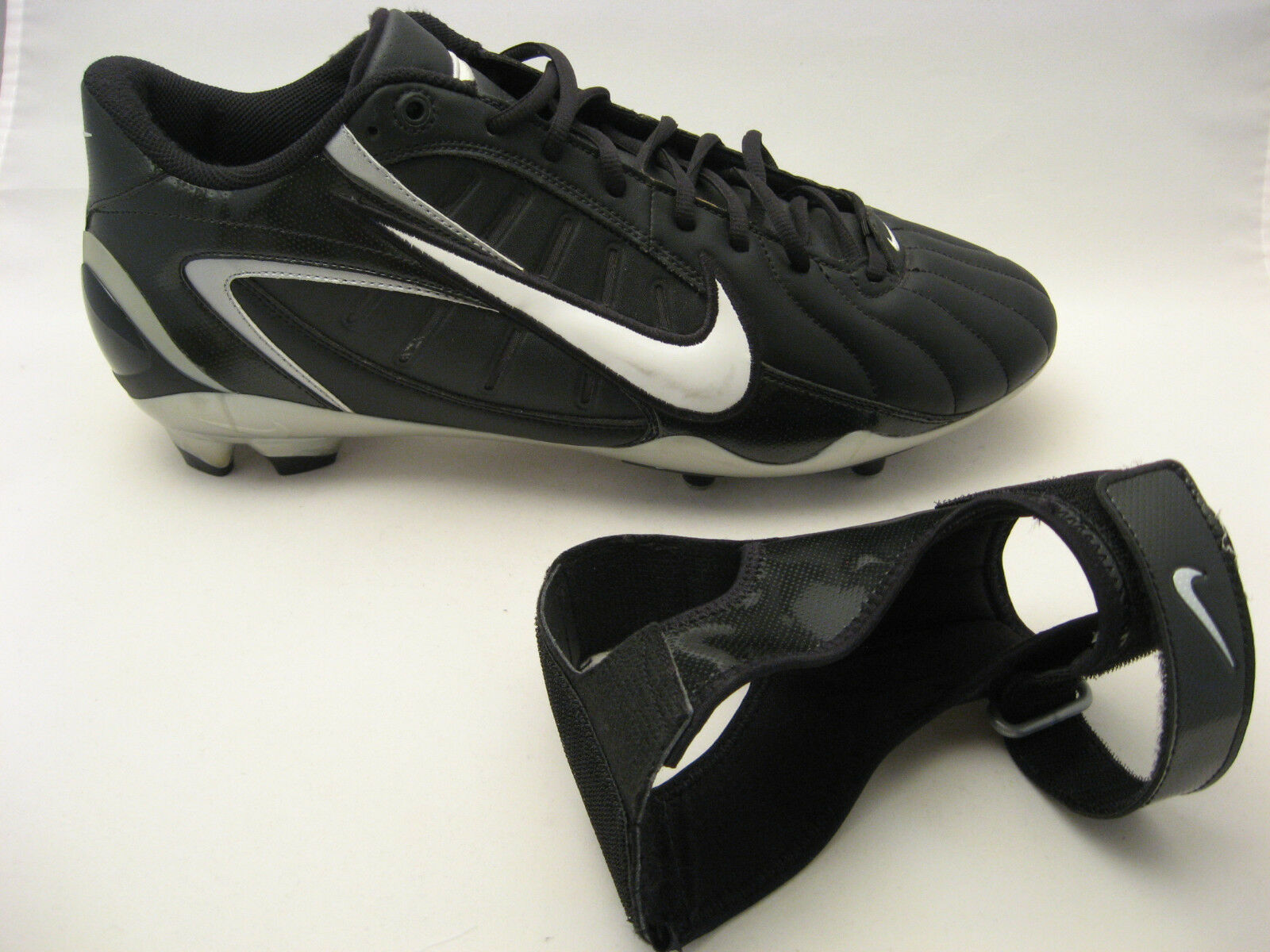 Nike Mens Air Zoom Super Bad Football Cleats 15 Black Removable Ankle Support