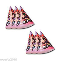 DesignWare Cartoon Network The Powerpuff Girls Party Cone Hats 8 Count (Blossom, Buttercup and Bubbles) - 18100639747 Toys