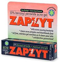 Zapzyt Maximum Strength 10 Benzoyl Peroxide Acne Treatment Gel