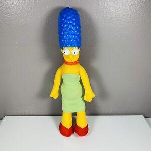 """Vintage Simpsons Marge Simpson 12"""" Doll Burger King Figure 1990 Plush Vinyl Head"""