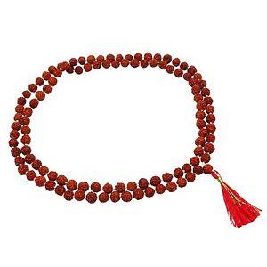 details zu 5 gesicht rudraksha korn japa mala 109 perlen rosenkranz gebet meditation  der rosenkranz gebete und meditationen #15