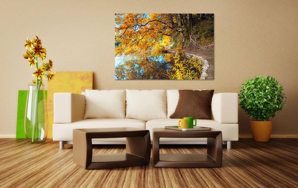 3D Flussufer Way Golden Baum 94 Fototapeten Wandbild BildTapete AJSTORE DE Lemon