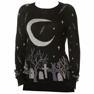 Banned-Crescent-Moon-Cat-Graveyard-Cemetery-Spooky-Knitted-Halloween-Jumper
