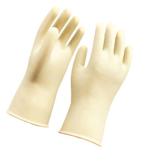 36cm White Latex Rubber Work Safety Gloves Garden Washing Housework Gloves