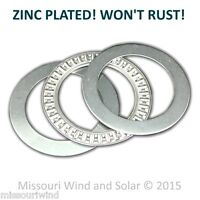 Wind Turbine Generator Yaw Bearing Fits 1 1/2 Inch Pipe -- Real Zinc Plated
