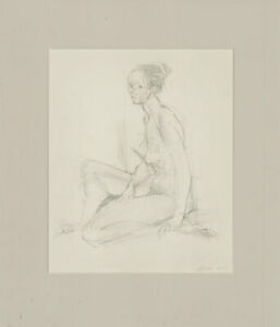 Honest J. Dodd - 2002 Graphite Drawing, Seated Nude