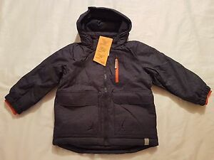 H-amp-M-Kids-Boys-Winter-Padded-Parka-Jacket-size-3-4-years-Brand-New-With-Tag-Blue