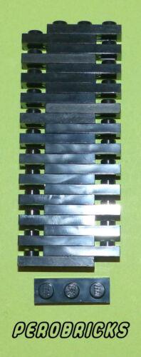 1Lego Basic Technik Technic 25 Platten 1x3 #3623 schwarz