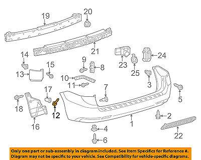 TOYOTA OEM Rear Bumper-Side Retainer Screw 7539242030