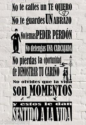 Vinilo decorativo #354# SENTIDO A LA VIDA sticker paredes wall pegatina