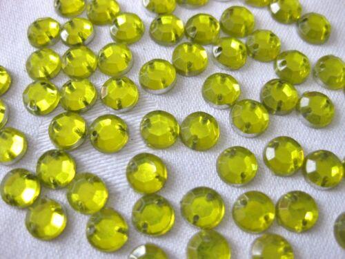 6mm,zum Aufnähen,Farbe wählbar  St 39 200 Acryl-Strass-Glitzersteine,rund