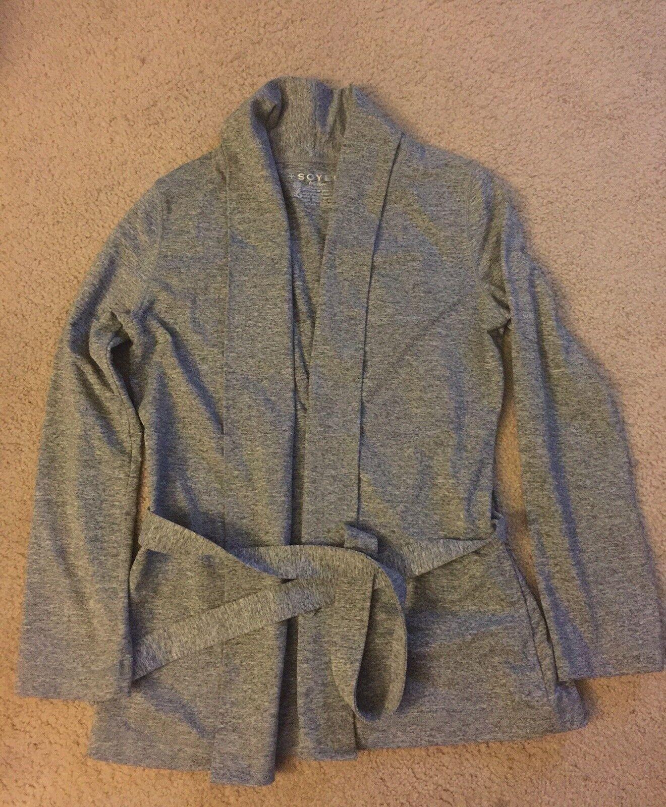 Soybu Tied Waist Cardigan Size Medium (NWOT) Grey