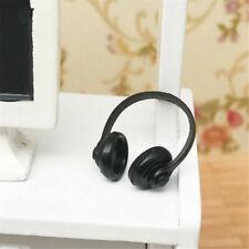 RI 1//12 Scale Dollhouse Miniature Accessories Black Earphone Headphone
