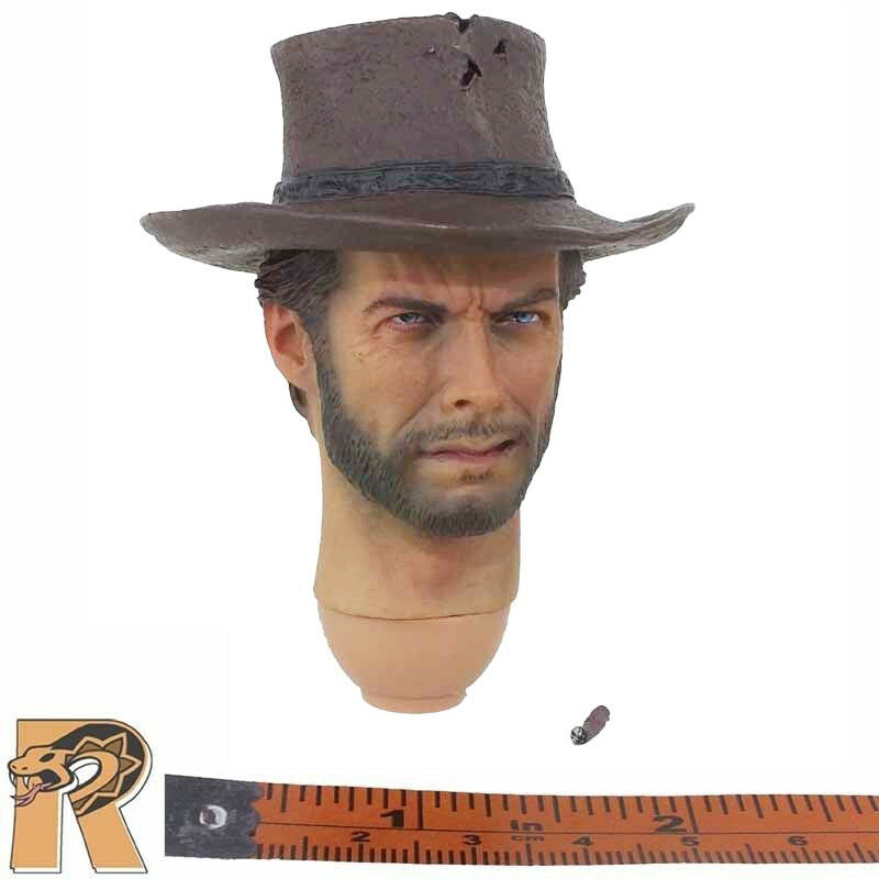 Good Cowboy V3 - Head w  Cowboy Hat - 1 6 Scale - Redman Action Figures