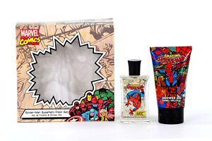 Spider-man-Boites-Eau-de-Toilette-Gel-Douche-Bain-Mousse-Enfants-Marvel