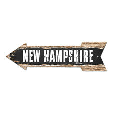 AP-0092 NEW HAMPSHIRE Arrow Street Tin Chic Sign Name Sign Home man cave Decor