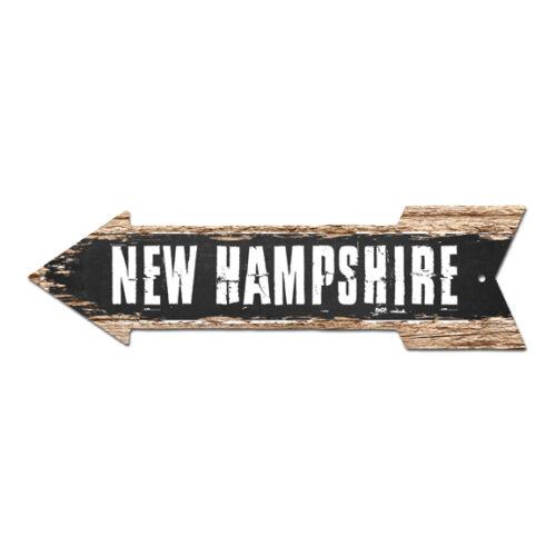 AP-0092 NEW HAMPSHIRE Arrow Street Tin Chic Sign Name Sign Home man cave Decor