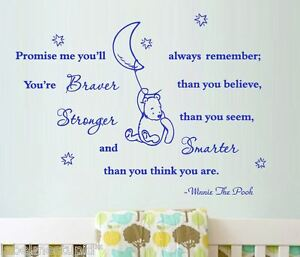 Youre Braver Than You Think Stronger Smarter Winnie The Pooh Quote